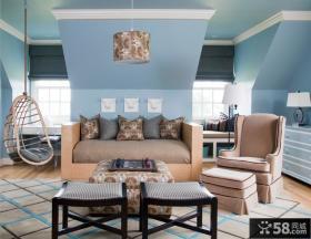 阁楼房屋客厅装修设计图