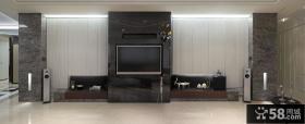 现代时尚家居电视背景墙设计装修效果图
