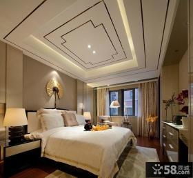 欧式现代风格复式楼卧室装修效果图