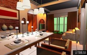 小复式现代简约餐厅装效果图大全