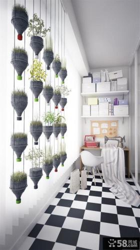 黑白时尚家装阳台设计