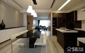 开放式厨房餐厅装修效果图大全图片