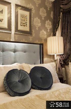 欧式风格主人卧室床头装修