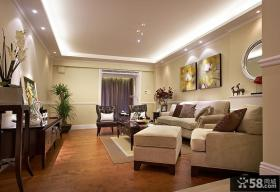 沙发背景墙壁画装饰效果图