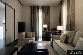 现代日式风格120平米三室两厅图片大全欣赏
