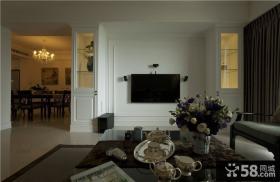 简欧风格家居电视背景墙设计效果图
