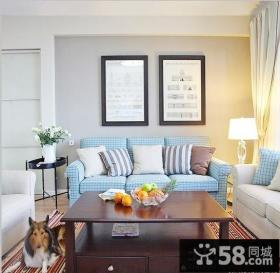 现代休闲客厅沙发背景墙装饰画图片