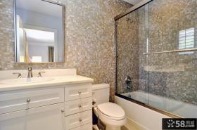 卫生间马赛克瓷砖背景墙装修效果图