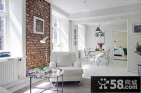 清新简约风格小复式客厅装修效果图