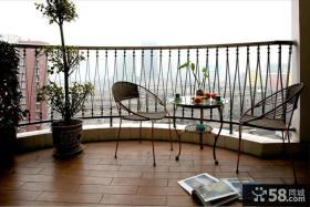 家庭室内简单阳台装修图片