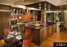 设计美式厨房橱柜图片