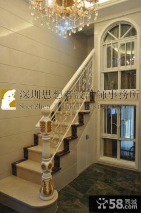 欧式复式楼两居室楼梯装修效果图