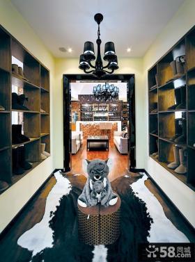 复古家装设计鞋柜图片欣赏大全