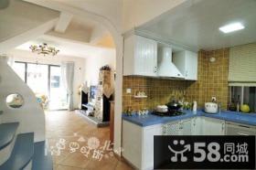 地中海风格复式楼厨房装修效果图-非空设计