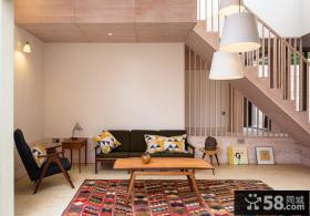日式家居复式家庭室内装修效果图大全2014