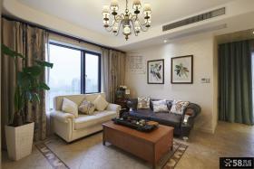 简约美式风格小客厅装修效果图欣赏