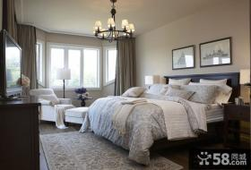 北欧风格主卧室装修效果图大全图片