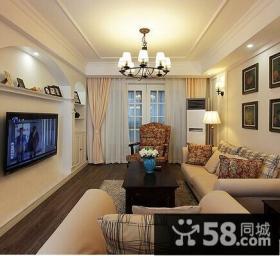 现代简约风格两室两厅客厅装修效果图欣赏