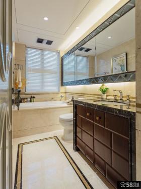 美式风格复古卫生间室内装修效果图片
