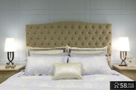 时尚潮流现代风格卧室床头设计装修效果图