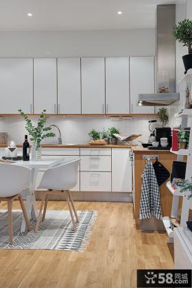 北欧50平米小户型厨房餐厅效果图