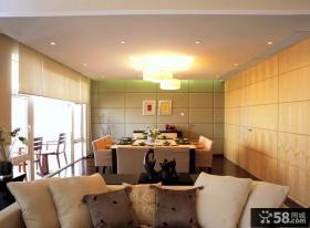 优美清新的现代风格餐厅装修效果图大全2014图片