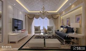 欧式整体客厅软包电视背景墙效果图