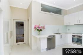 简约小开放式厨房装修设计