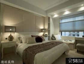 新古典风格主卧室飘窗装修效果图片