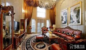 古典欧式风格豪华别墅客厅装修效果图大全