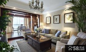 美式风格室内客厅装饰图片