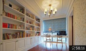 简欧风格别墅书房设计效果图片