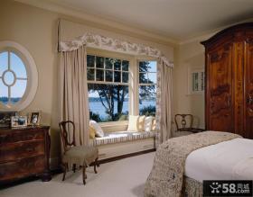 卧室飘窗窗帘装饰设计图