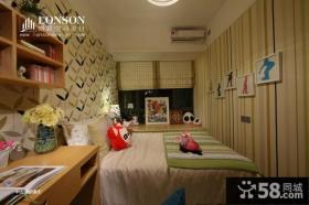 儿童房卧室背景墙效果图片
