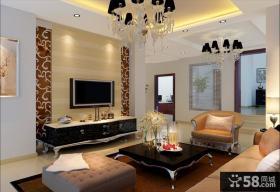 绝对豪华经典的现代风格客厅电视背景墙装修效果图大全2014图片