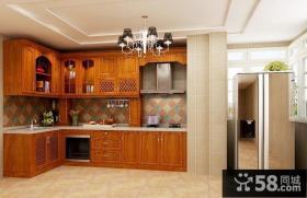 美式家庭开放式厨房设计