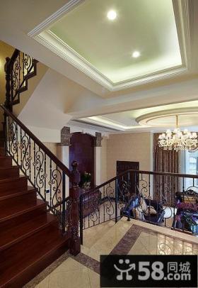欧式铁艺家居楼梯装饰
