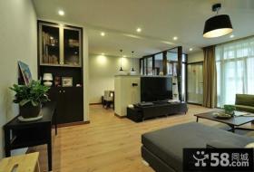 现代家装室内客厅电视背景墙图片
