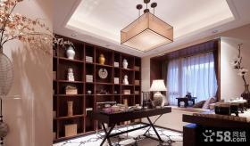 现代中式设计别墅书房装饰效果图片