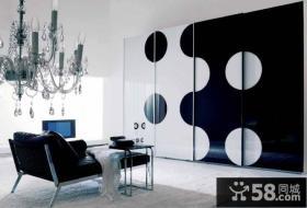 黑与白的世界简约风格休闲区装修效果图大全2012图片