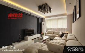 简单客厅电视背景墙效果图