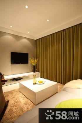 现代简约小客厅电视背景墙装修效果图