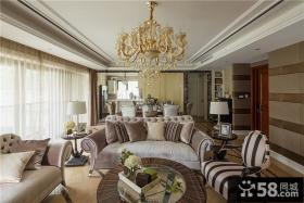 古典豪华欧式客厅装修案例