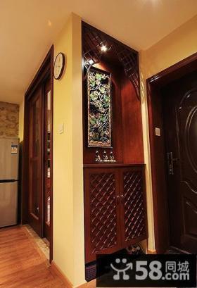 中式家居鞋柜玄关装修效果图