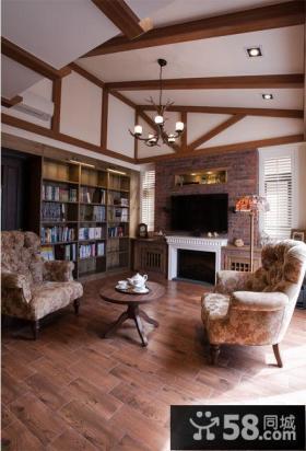 美式乡村风格客厅装修图片欣赏