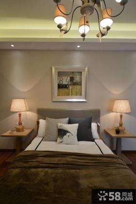 现代日式风格卧室床头灯具图片