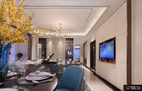新古典家庭客厅吊顶装修设计