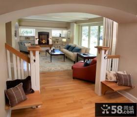 乡村别墅客厅玄关装修效果图大全2012图片