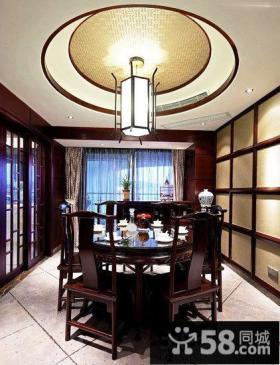 中式风格装修设计豪华餐厅图片大全