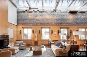 复式房子客厅百叶窗装修效果图